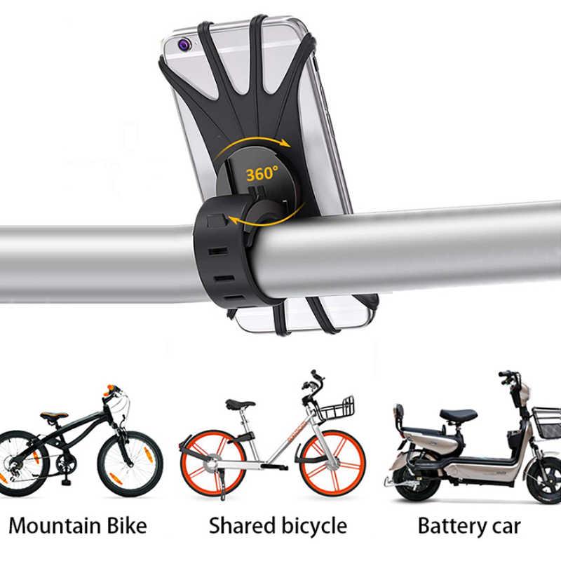 Support universel de guidon de bicyclette, pour téléphone portable, GPS, en Silicone, pour moto, Support de guidon