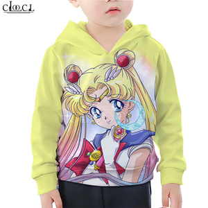 Image 4 - Детская одежда для маленьких девочек; Толстовка с 3D принтом Сейлор Мун Гэлакси; Свитер с принтом для дочки; Спортивная одежда для маленьких мальчиков; Пуловер