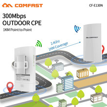 1Km Wifi Range Draadloze Outdoor Cpe Router Wifi Extender 2.4G 300Mbps Wifi Bridge Access Point Ap Antenne wifi Repeater CF-E130(China)