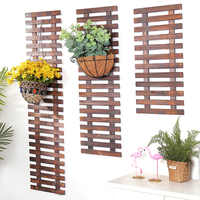 Solid Wood Fence Wall Hanging Flower Frame Grid Balcony Wall Hanging Plant Rose Rose Flower Shelf Hanging Wall Decoration