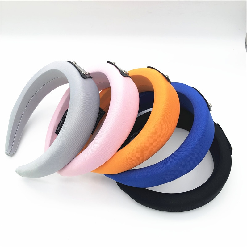 Thick Sponge Velvet Hairbands Headbands For Women Girls Triangle LOGO Head Bands Headwear Fashion Hair Bands Accessories