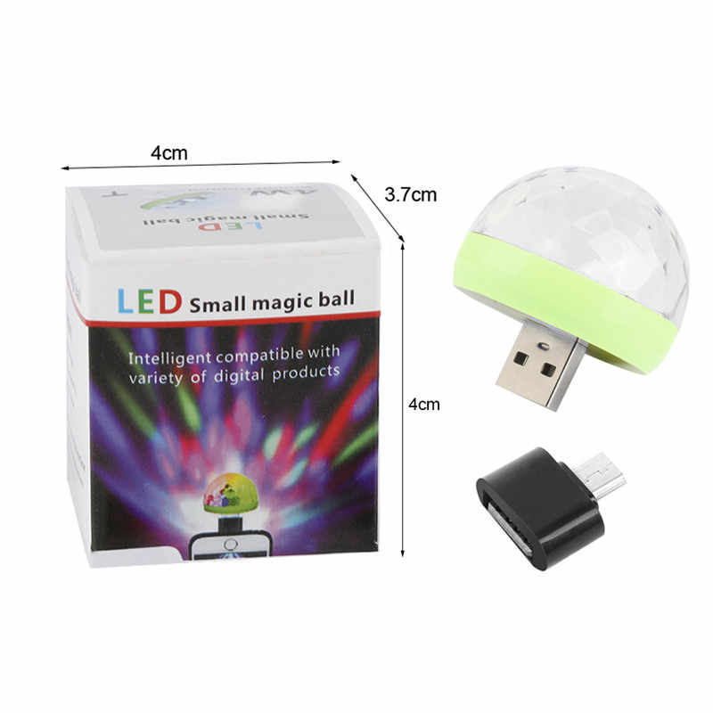 Mini USB Disco Licht LED Party Lichter Tragbare Kristall Magic Ball Bunte Wirkung Bühne Lampe Für Home Party Karaoke Decor