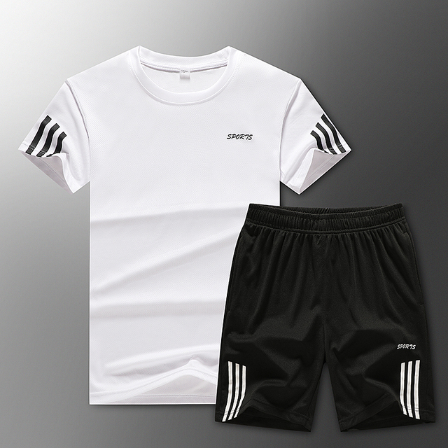 Loose Men's Sport Suits Quick Dry Running sets Clothes New Sports Joggers Training Gym Fitness Jogging Tracksuits large size 1