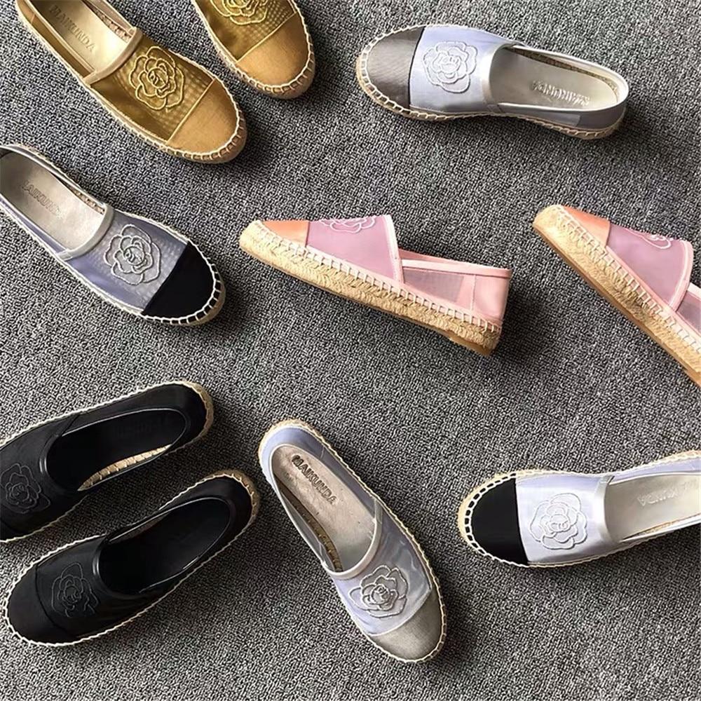Chaussures pour femmes 2019 nouveau printemps été maille Espadrilles chaussures sans lacet mode vente chaude chaussures plates pour femmes grande taille 42 - 3