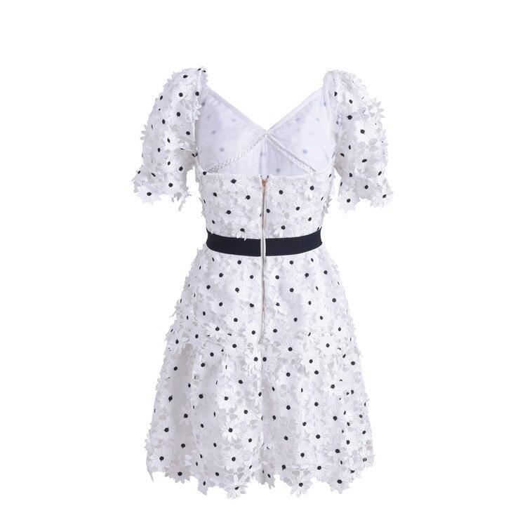 decote em v branco floral laco dot mini vestido 03