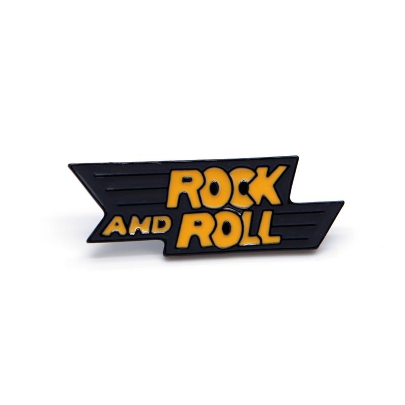 Punk rock alfabeto esmalte pinos para as mulheres rock and roll broches lapela pino chapéu saco pinos broche mochila hip hop masculino distintivo a88