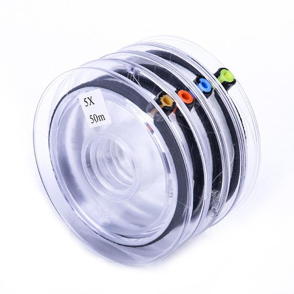 4PCS Tippet Line Spool Tippet Spool Tender Clear Fly Fishing Tippet Line With Tippet Holder Spool Tender On For Fly Fishing Gear