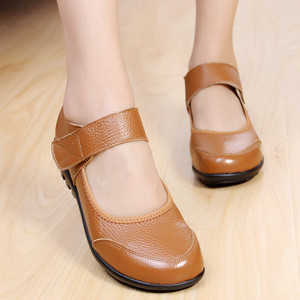 Image 2 - GKTINOO Summer Ballet Flats Shoes Woman Leather Mary Jane Casual Shoes ladies Genuine Loafers Shoes Female 2019 Sapato Feminino