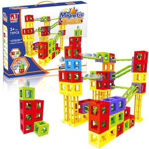 73pcs DIY Magnetic Blocks Trac