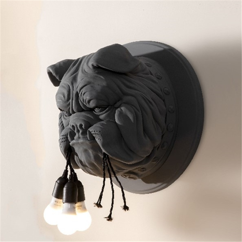 Animal chien applique salon décoration couloir personnalisé décor à la maison éclairage concepteur Ktv Bulldog appliques pour la maison