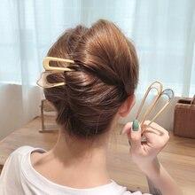 Для женщин и девочек Корейский стиль простой металлический сплав