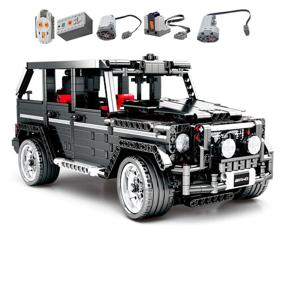 <font><b>701960</b></font> Technic MOC 2425 SUV G500 AWD Wagon Car Sets Fit Building Blocks Electric Bricks Toys For Children image