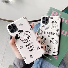 Cute Dog Cartoon PEANUTS Happy Family Charlie Brown Lucy case for iPhone 11 XS XR Pro Max 6 7 8 Plus 3D Silk relief phone cover(China)