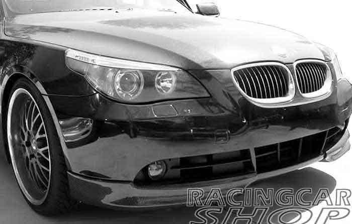SPOILER de labios de parachoques delantero de fibra de carbono REAL para BMW E60 E61 5-SERIES 2005-2008 1 par b029