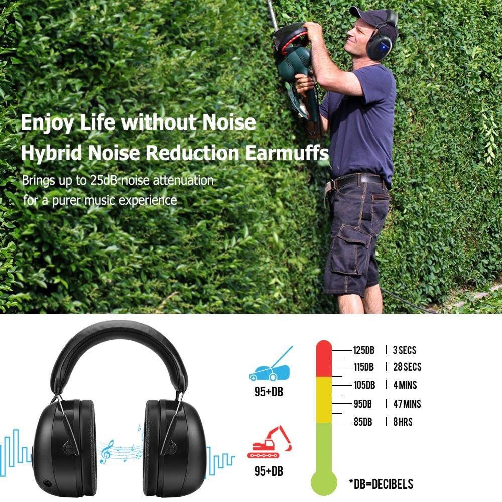 Электронная гарнитура 5,0 Bluetooth наушники объемного защита ушей Беспроводной наушники Шум шумоподавления зарядный для музыки съемки-4