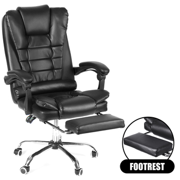 Computer Gaming Chair Lying Massage Lifting Rotatable Armchair Footrest Office Adjustable Swivel Leather Executive