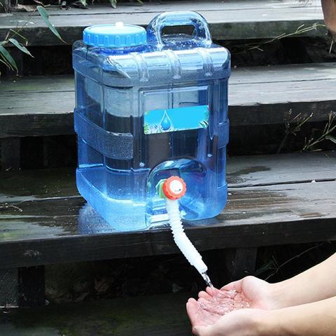 carro portatil dirigindo balde de agua 10l pc engrossado acampamento tanque de agua recipiente de