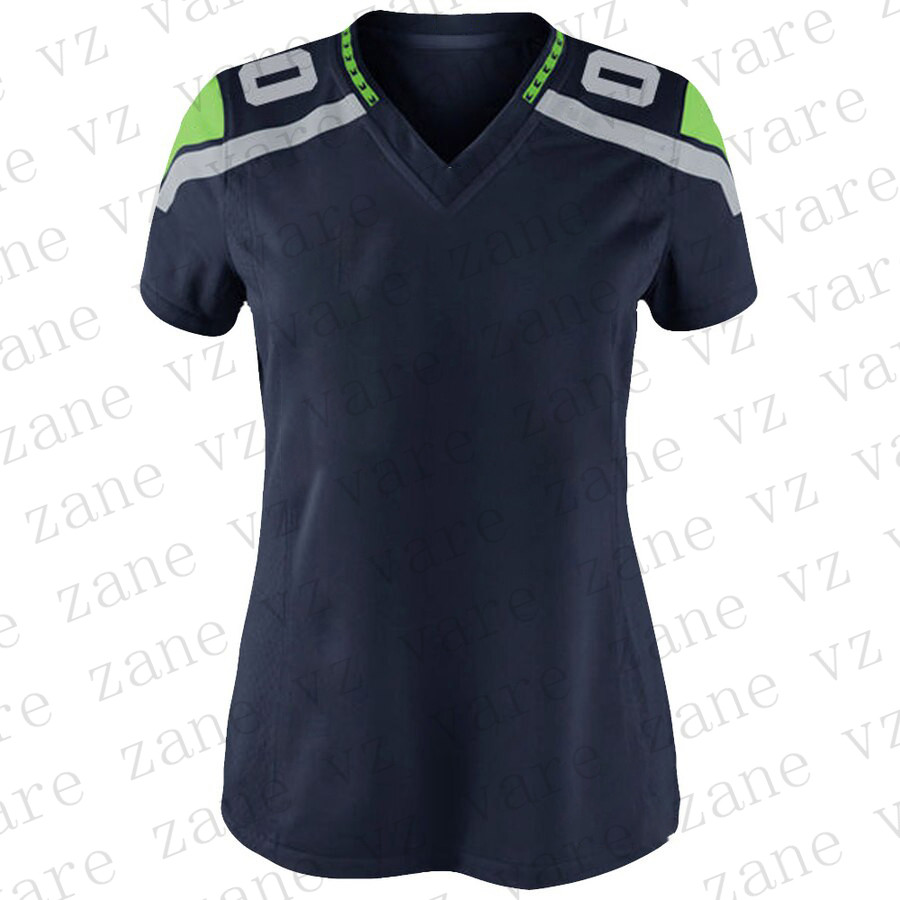 Customize Women Sports American Football Jerseys12 Fan Russell Bobby Wagner Tyler Lockett Jadeveon Clowney Cheap Seattle Jersey