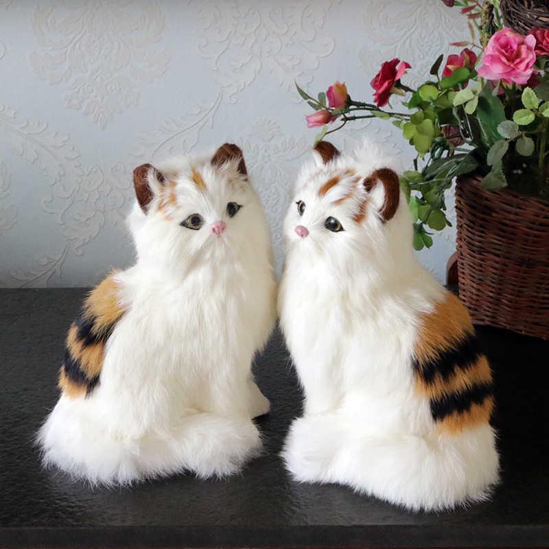 Gesimuleerde dier Pluche speelgoed bont katten pop educatief speelgoed kinderen geschenk woondecoratie School onderwijs aid Paar gift