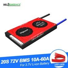 Deligreen 20S 30A 40A 50A 60A 72V PCM/PCB/BMS pour batterie au lithium 3.7V batterie lithium 18650 Lithion LiNCM ebike