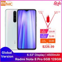 Versión Global Redmi Note 8 Pro 6GB RAM 128GB ROM 64 MP Quad cámaras MTK Helio G90T Smartphone 4500mAh 18W QC 3,0 UFS 2,1 NFC(China)