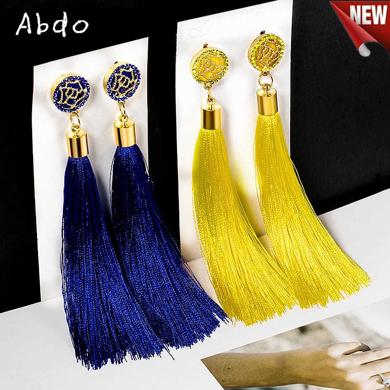 New Vintage Top Quality Handmade Bohemian European Ethnic Hanging Rope Tassel Earrings For Women Girl Party Trendy Statement