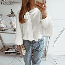 Elegant Women Puff Sleeve Blouse Shirt 2020 ZANZEA Ladies Ca