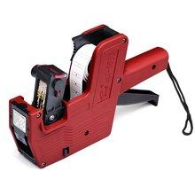 MX-5500 handheld preço arma de rotulagem plástico 8 dígitos eos preço tag gun 21x12mm máquina etiquetas para supermercado shopping