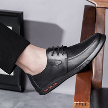 fashion men genuine leather lace-up casual shoes outdoor breathable trend shoes cool loafers flats shoes Autumn Shoes Moccasins(China)