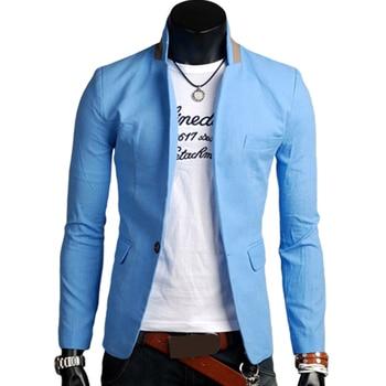Men Long Sleeve Lapel Blazer Korean Simple Pure Color Wild Business Jacket Casual Outdoor Winproof Warm Coat куртка мужская