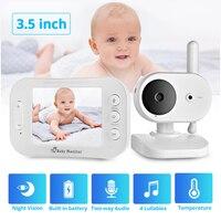 FUERS المحمولة LCD اللون اللاسلكية الفيديو والصوت مراقبة الطفل للرؤية الليلية كاميرا الموسيقى اتجاهين راديو كشف درجة الحرارة