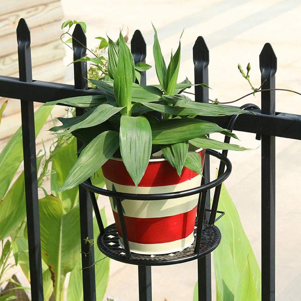 Balcony Flower Rack European Style Iron Railings Flower Pot Holder Creative Hanging Window Green Planting Basin Shelf New