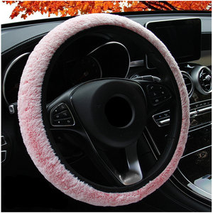 Winter Car Steering Wheel Covers Auto Steering Wheel Short-Wool With No Inner Ring Elastic Wheel Cover Warm Funda Volante 38cm