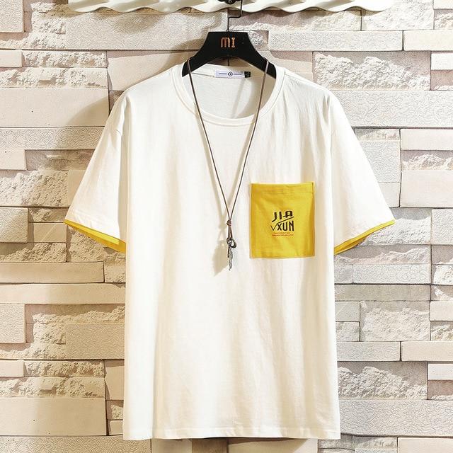 Short Sleeve T Shirt Men 2020 Summer Loose Tshirt Top Tees HIP HOP PUNK ROCK Fashion Clothes Plus Size M-4XL 5XL O NECK Uncategorized Fashion & Designs Men's Fashion