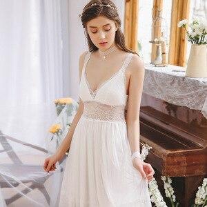 Image 3 - 2020 ร้อนคู่เสื้อคลุมอาบน้ำหญิงบ้านRobe Gownชุดเจ้าสาวชุดนอนโปร่งใสKimonoเซ็กซี่Nightieลูกไม้PeignoirชุดT480