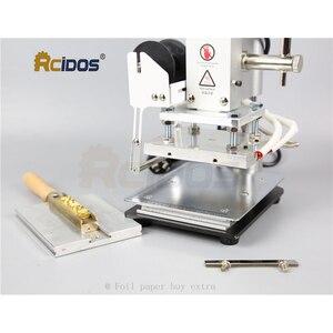 Image 4 - WT 90DS + T tipi pirinç harfler RCIDOS damgalama makinesi, deri bronzlaşma, sıcak folyo damgalama makinesi, 110V/220V, folyo rulo tutucu