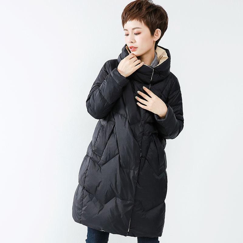 Winter Duck Down Jacket Women Long Puffer Down Coat Korean Women's Down Jackets Plumifero Mujer 2020 WF1S9170S KJ3675