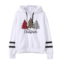 Christmas Tree Hoodies Plus Size Women Graphic Vintage Sweatshirt Casual Print Oversized Hoodie Harajuku Japanese Clothes