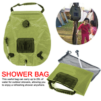 Outdoor 20L Shower Bag hotwater bathing equipment Water Bag For Outdoor Camping Hiking Solar Heating Hose Switchable Shower Head