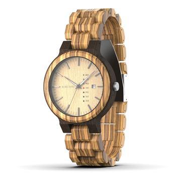 BOBO ptak drewniany zegarek mężczyźni erkek kol saati tydzień wyświetlacz data japonia Quartz Men zegarki zaakceptować Logo Drop Shipping