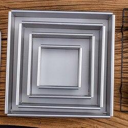 Kwadratowych Pan ciasto z wyjmowanym dnem anodowane aluminium kwadratowych ślub urodziny do pieczenia ciasto cyny sernik Pan szyfon ciasto formy na