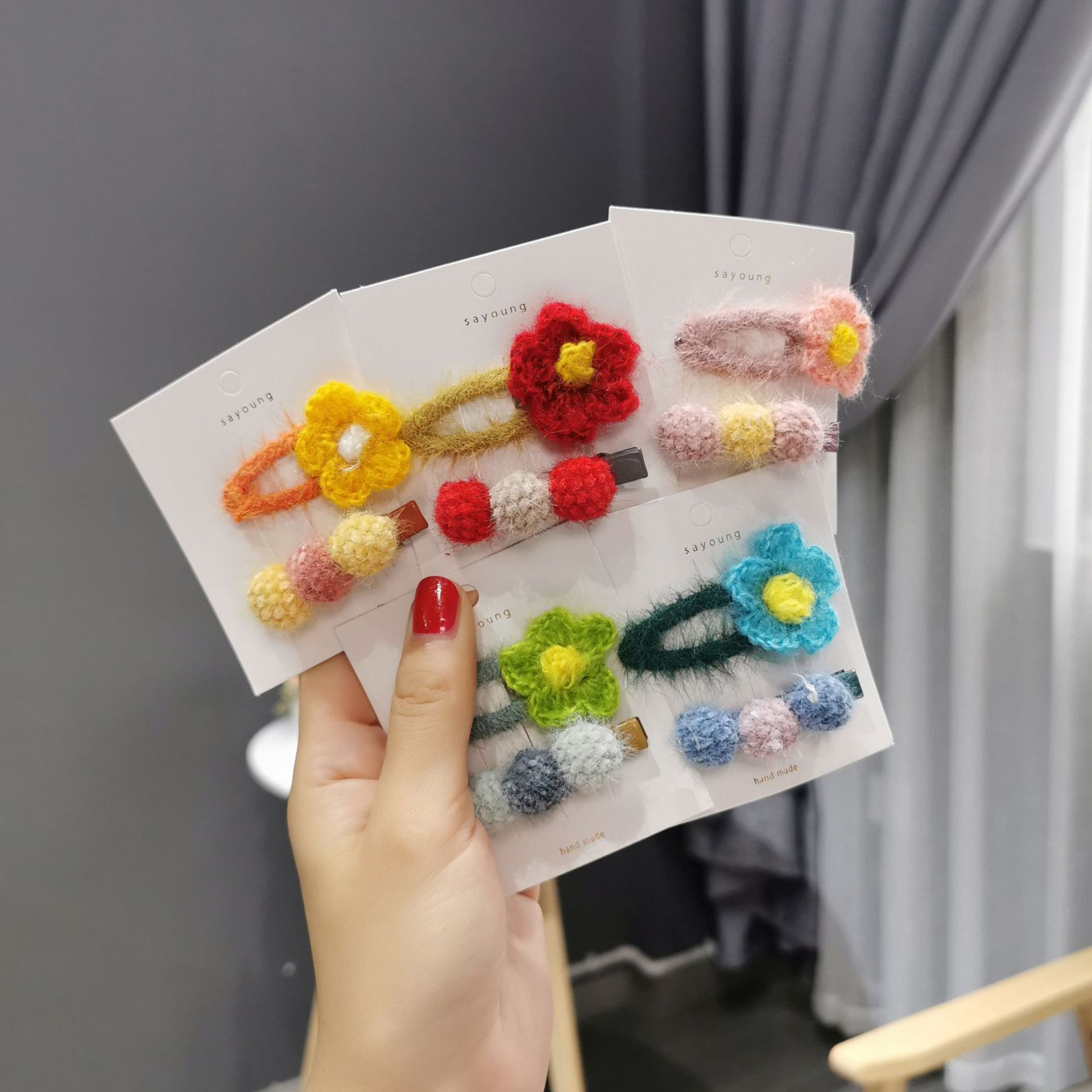 2 PC New Fashion Women Girls Hairpins Flower Hair Clip Delicate Pin Decorations Jewelry Accessories Beauty Styling Tools Dropshipping Arrival
