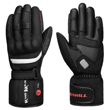 Motorcycle Electric Heated Gloves Rechargeable Battery Thermal Hands Warmer for Skiing Motorcycle Riding Fishing 3000mah rechargeable battery pu leather windproof winter warm ski outdoor work motorcycle cycling electric heated hands gloves