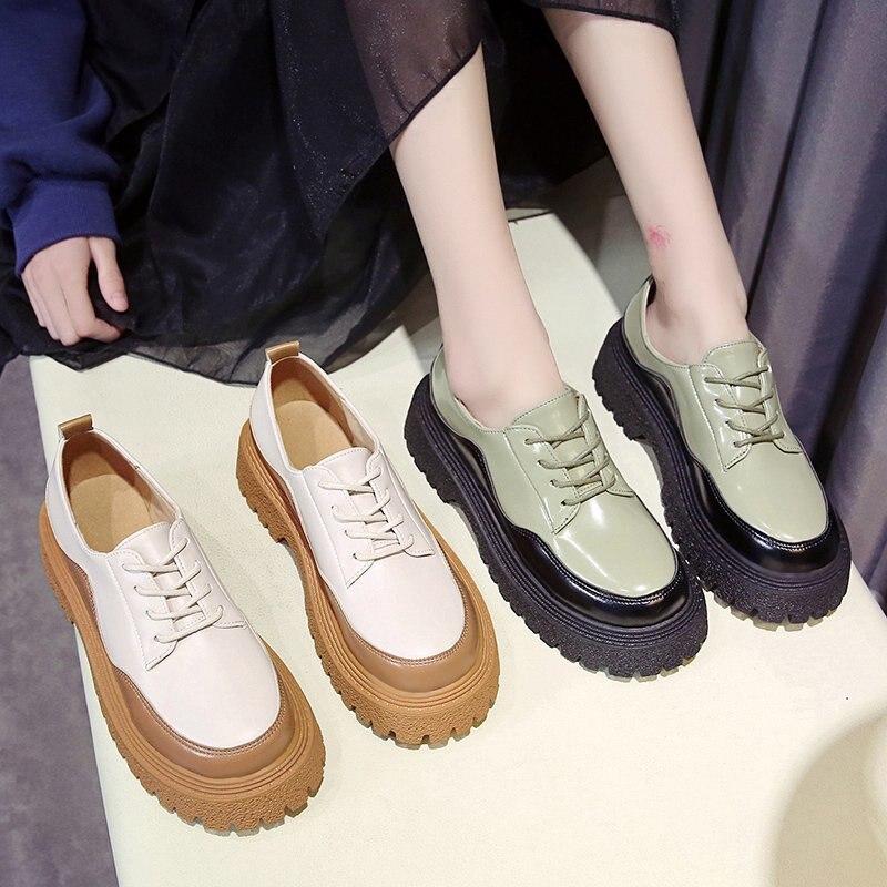 redondo all-match sapatos de plataforma rendas até