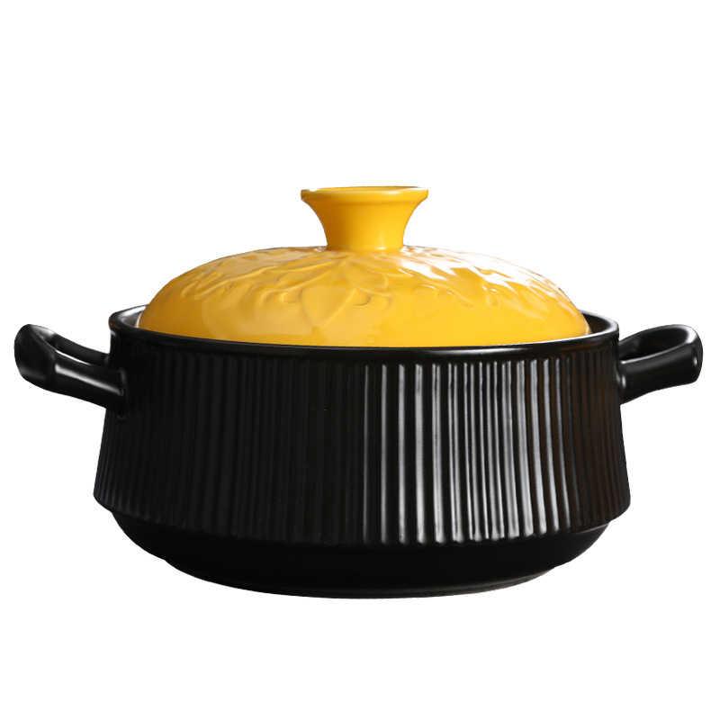 高耐熱大容量ヘルスケア鍋のお粥の鍋キャセロールセラミックボイラースープ石ボイラー