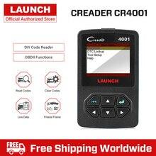 Launch DIY OBDII/EOBD Авто читальный инструмент кодов Creader 4001 OBD частичные функции
