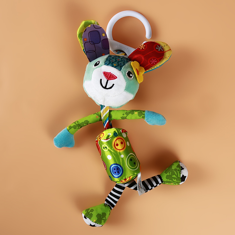 Baby Rattles Toys Bed Hanging Squeaker Toys Bed Car Hanging Ring Bell Rattle Toy Kid Gift Stuffed Wind Chimes Plush Doll Toy