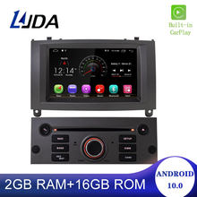 DSP 1 Din Android 10 Radio del coche para Peugeot 407 Peugeot 2004-2010 coche Multimedia Player Stereo AutoAudio GPS navegación DVD Video Carplay