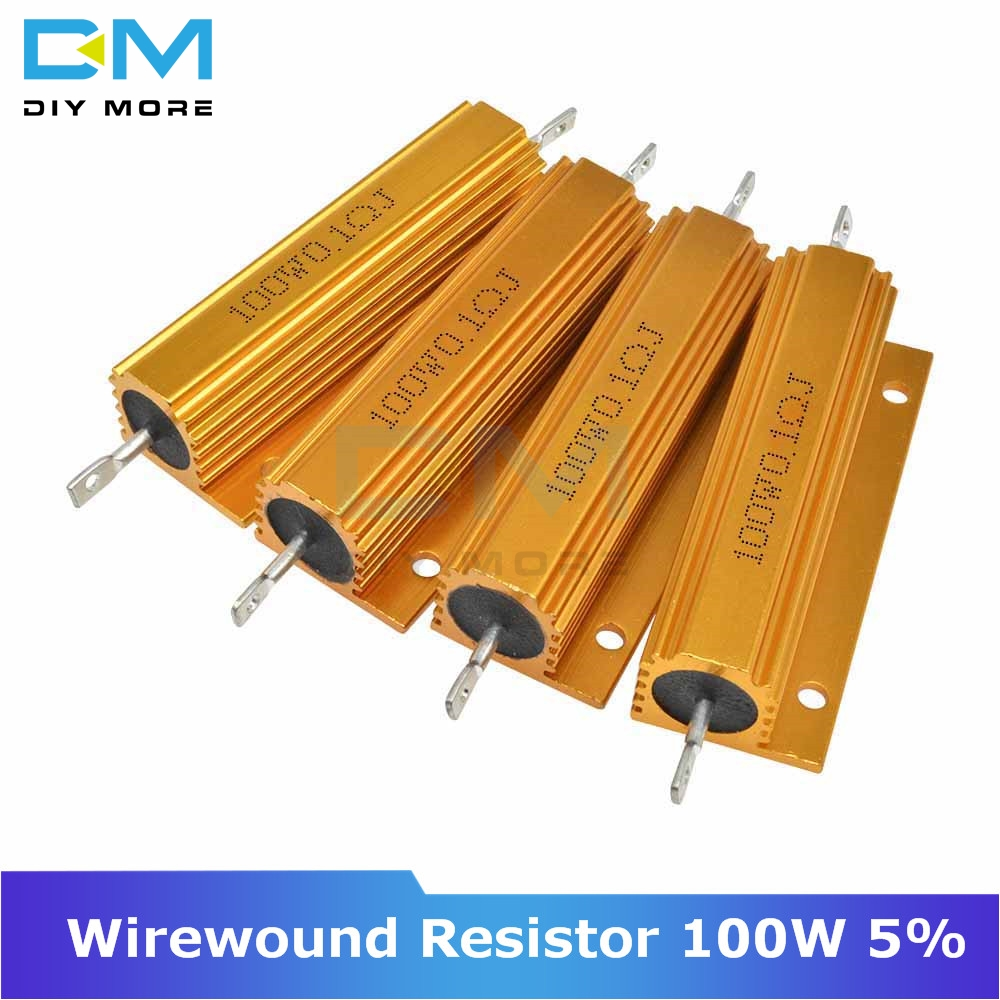 0.5R 1R 2R 4R 6R 8R 10R 20R <font><b>100W</b></font> 5% +5% -5% Aluminum Shell Housed Case Power Wirewound <font><b>Resistor</b></font> 0.5/1/2/4/6/8/10/20/50/100 Ohm image
