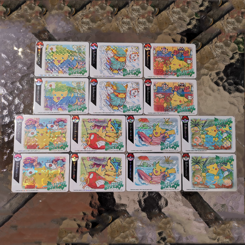 7pcs-set-font-b-pokemon-b-font-screaming-series-homemade-glare-flash-card-traveling-pikachu-collection-card-kids-toy-gifts